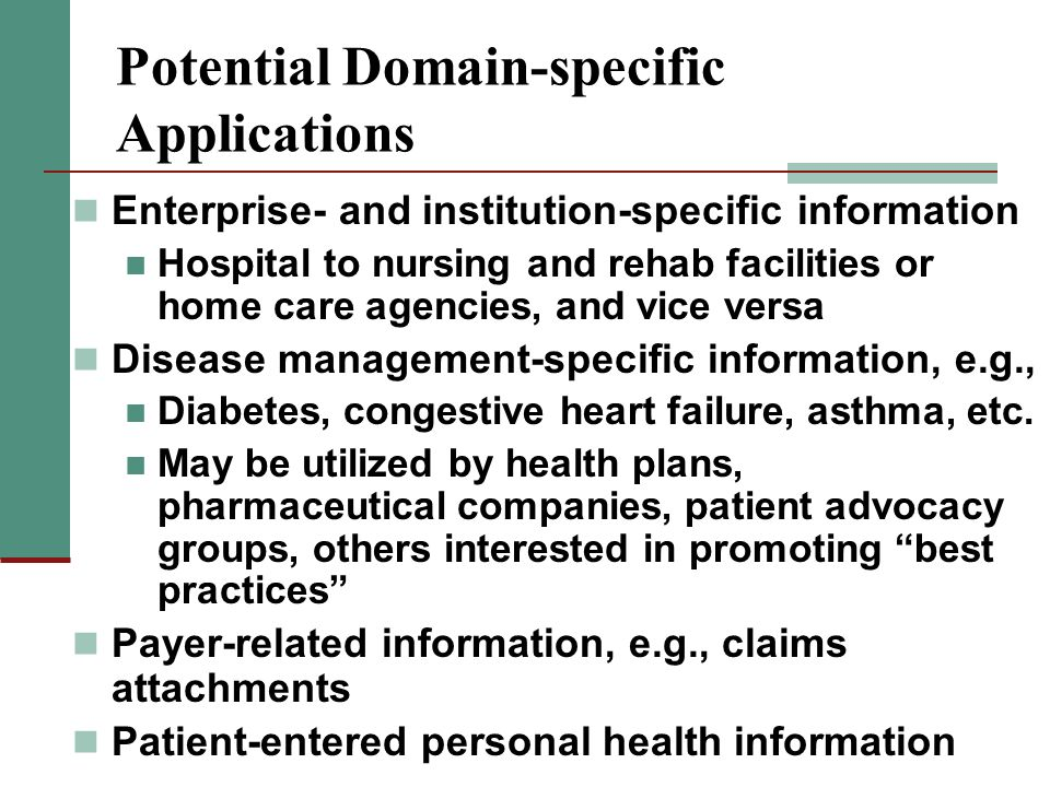 Potential Domain-specific Applications