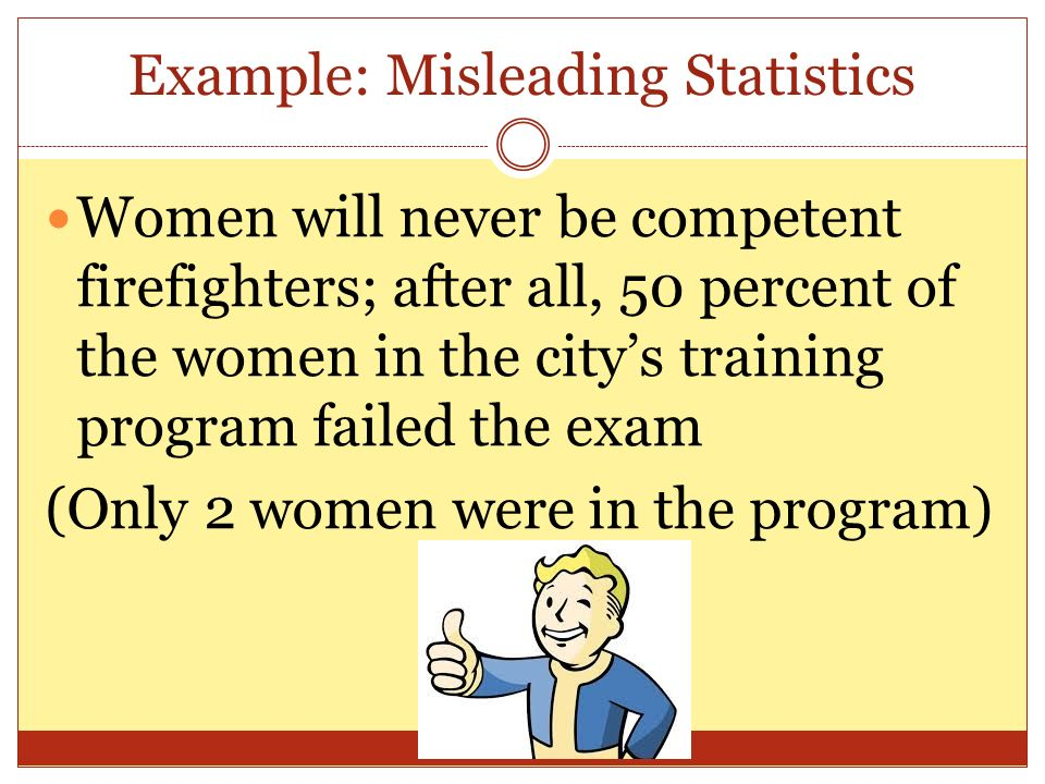 Example: Misleading Statistics