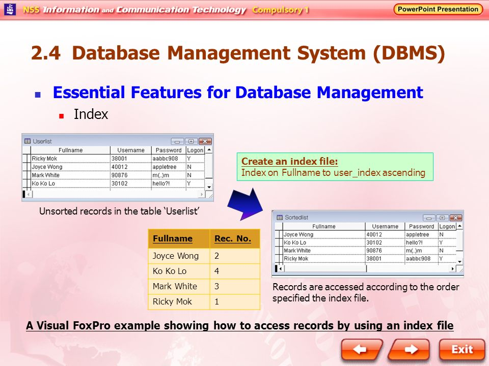 dbms 2 marks Dbms - interview questions and answers  and dbms software together is called as database system 4 what are the advantages of dbms 1 redundancy is controlled 2.