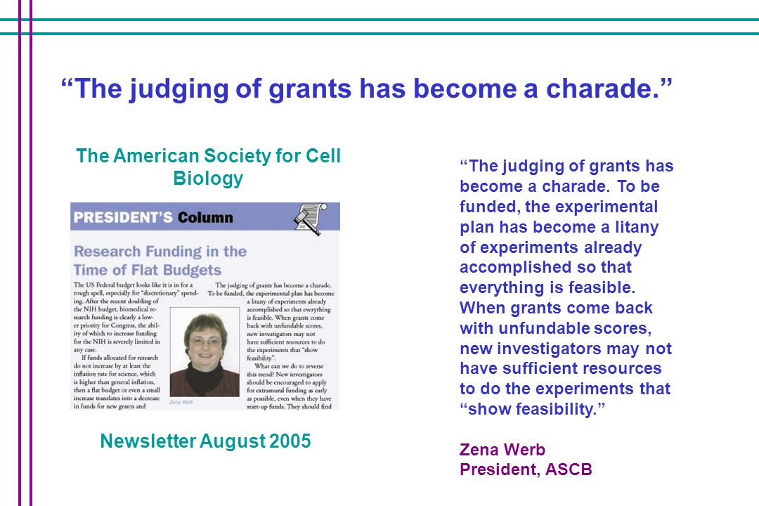 The judging of grants has become a charade.