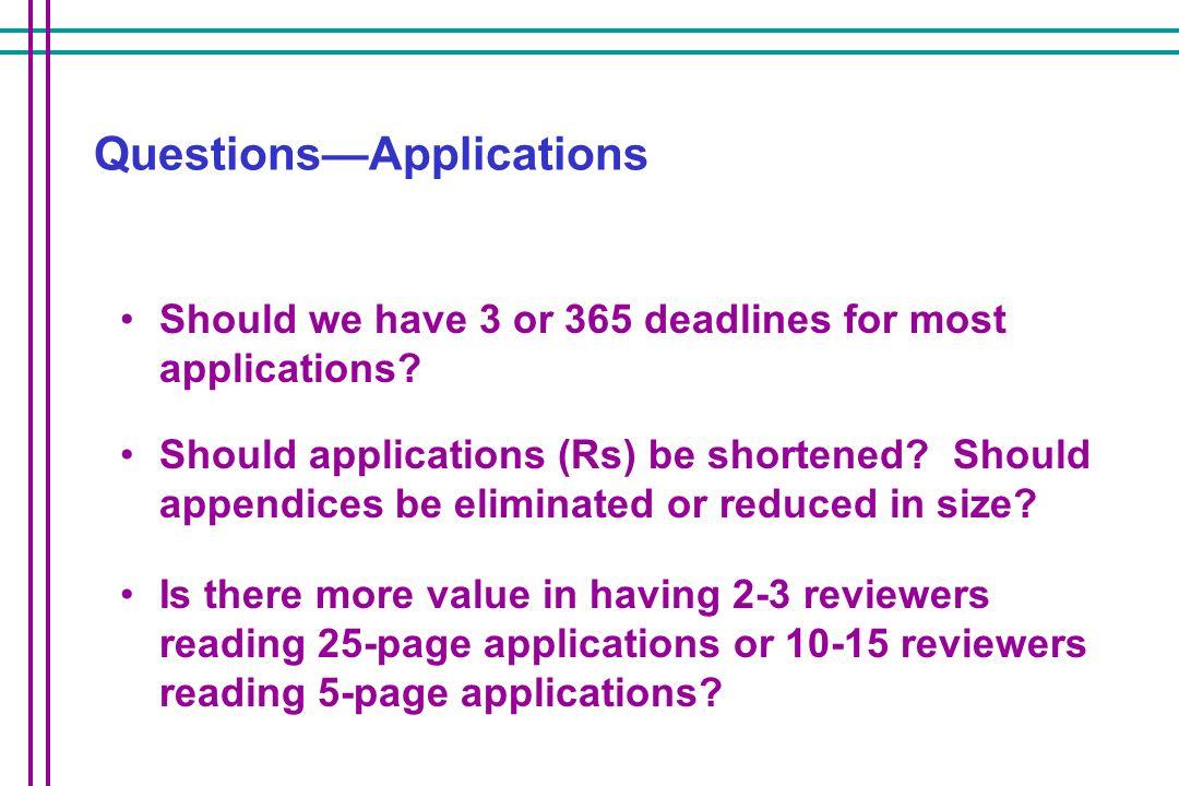 Questions—Applications
