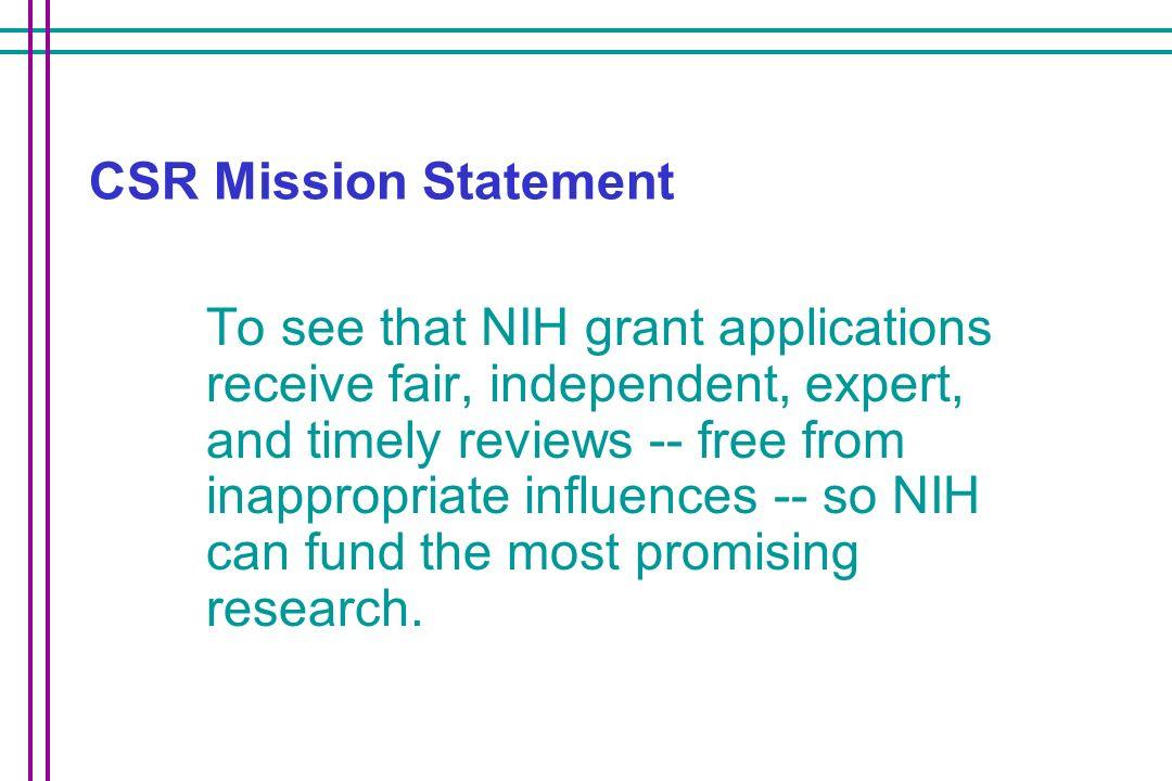 CSR Mission Statement