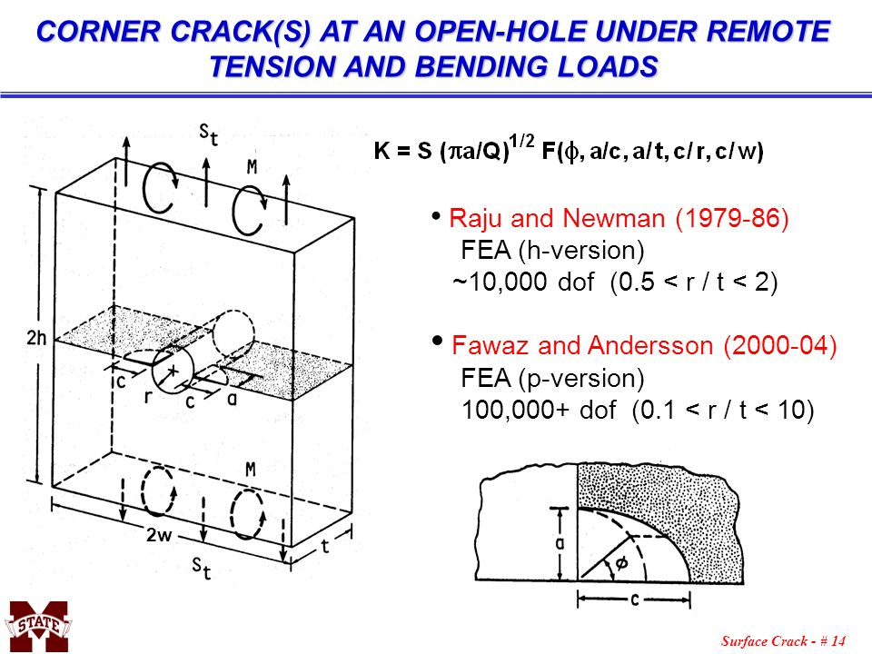 CORNER CRACK(S) AT AN OPEN-HOLE UNDER REMOTE TENSION AND BENDING LOADS