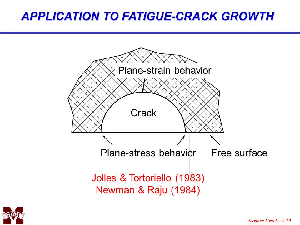 APPLICATION TO FATIGUE-CRACK GROWTH