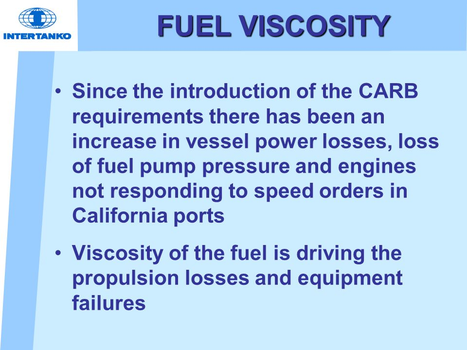 FUEL VISCOSITY
