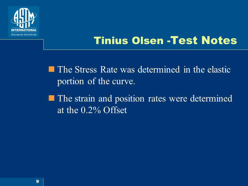 Tinius Olsen -Test Notes