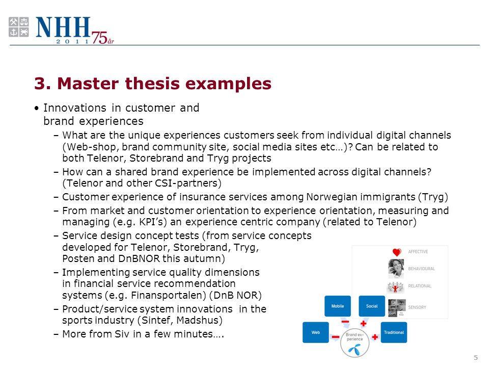 Master thesis service
