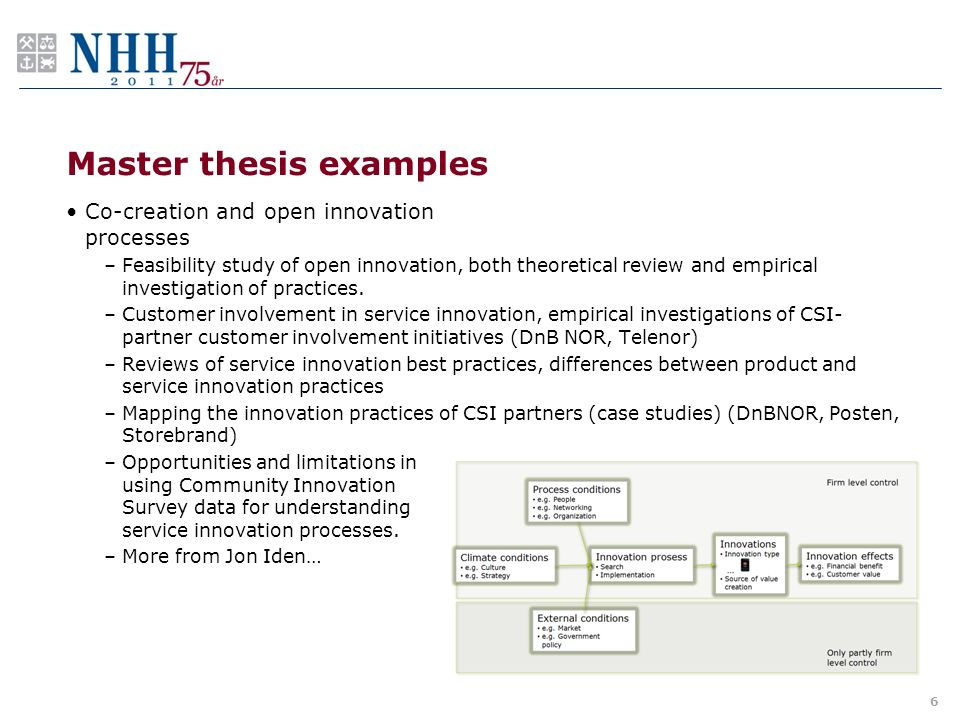 finance thesis examples
