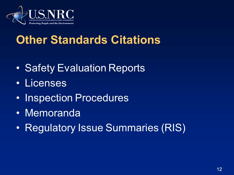Other Standards Citations