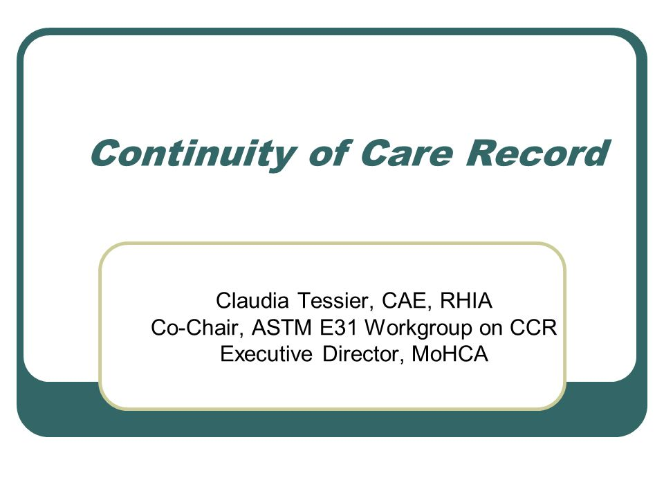 Continuity of Care Record
