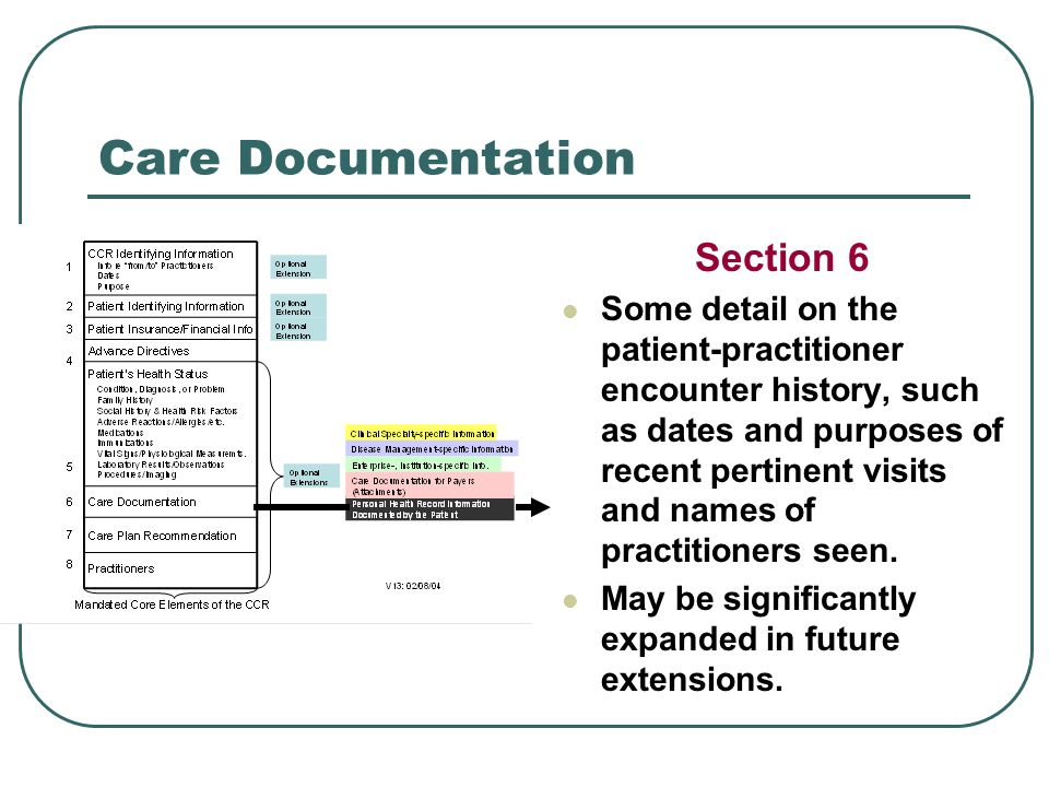 Care Documentation Section 6