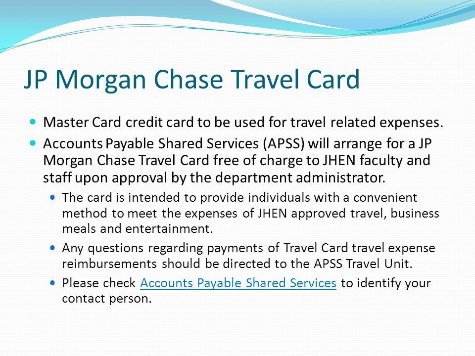 JP Morgan Chase Travel Card