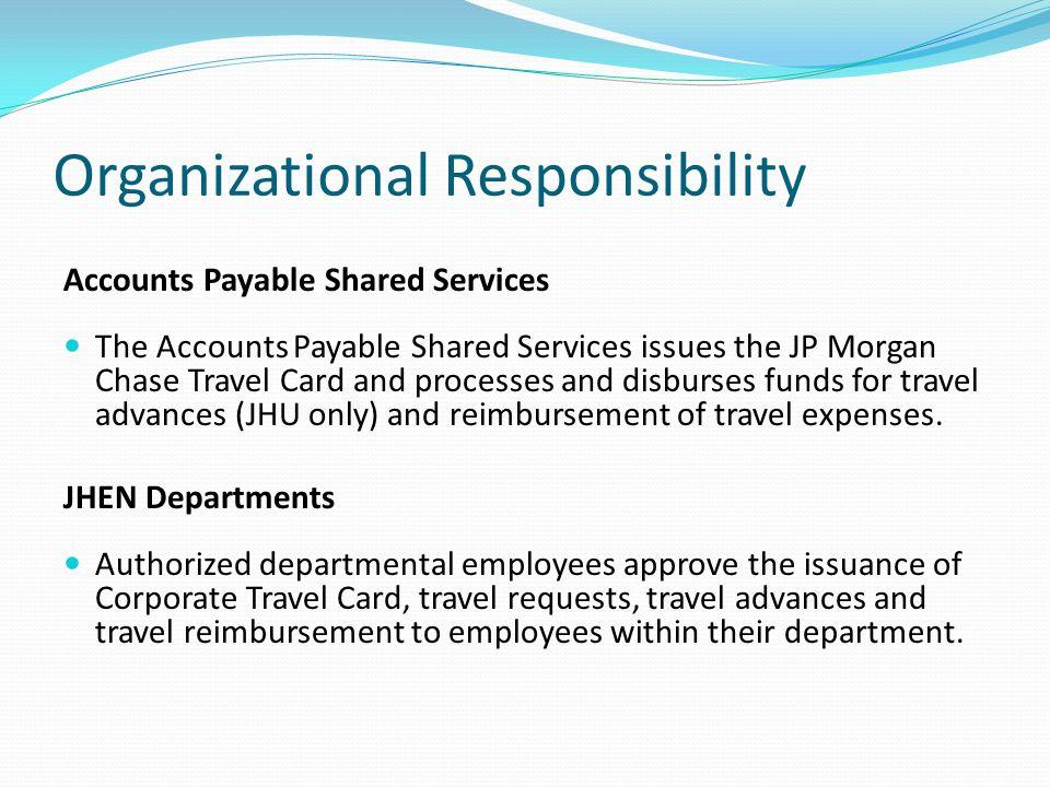 Organizational Responsibility