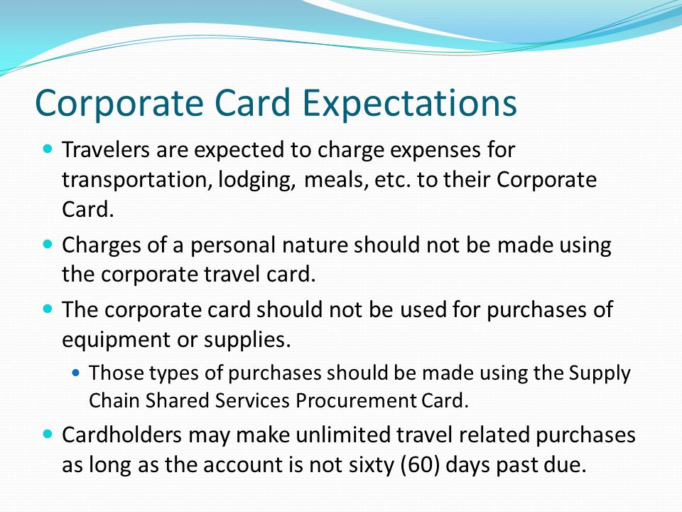 Corporate Card Expectations