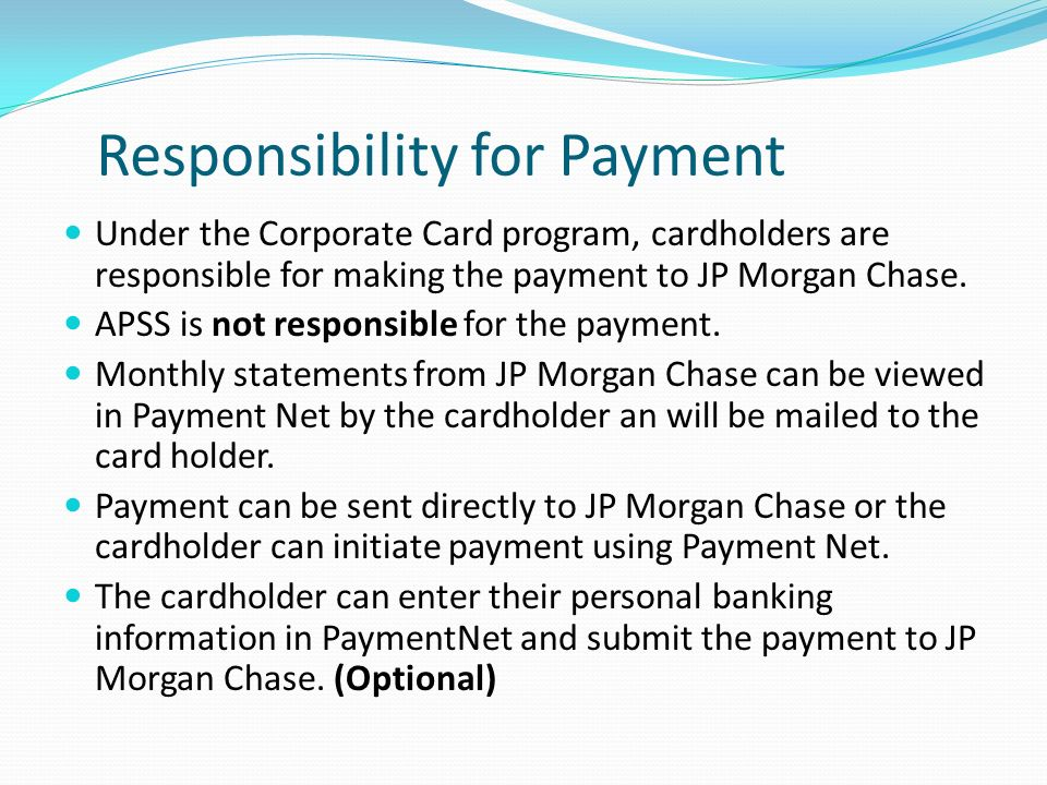 Responsibility for Payment