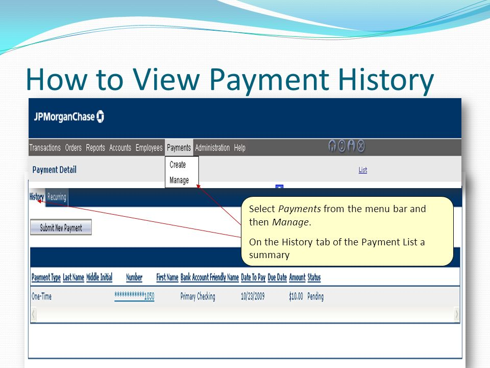 How to View Payment History