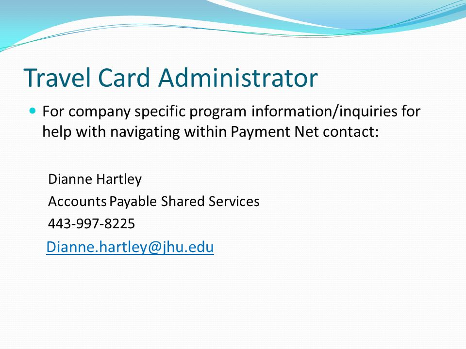 Travel Card Administrator