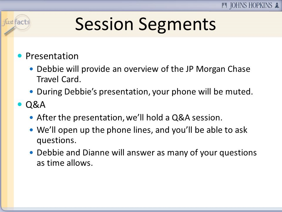 Session Segments Presentation Q&A