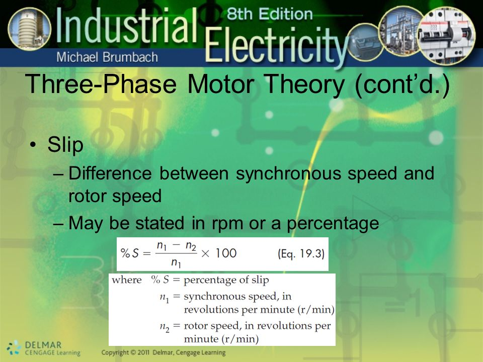 Three-Phase Motor Theory (cont'd.)