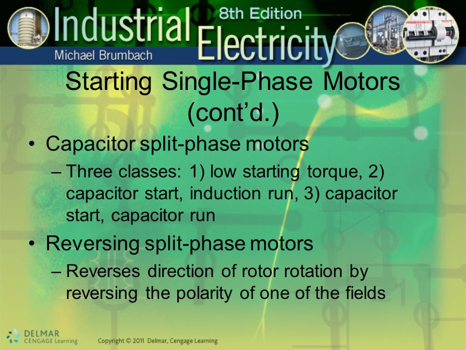 Starting Single-Phase Motors (cont'd.)