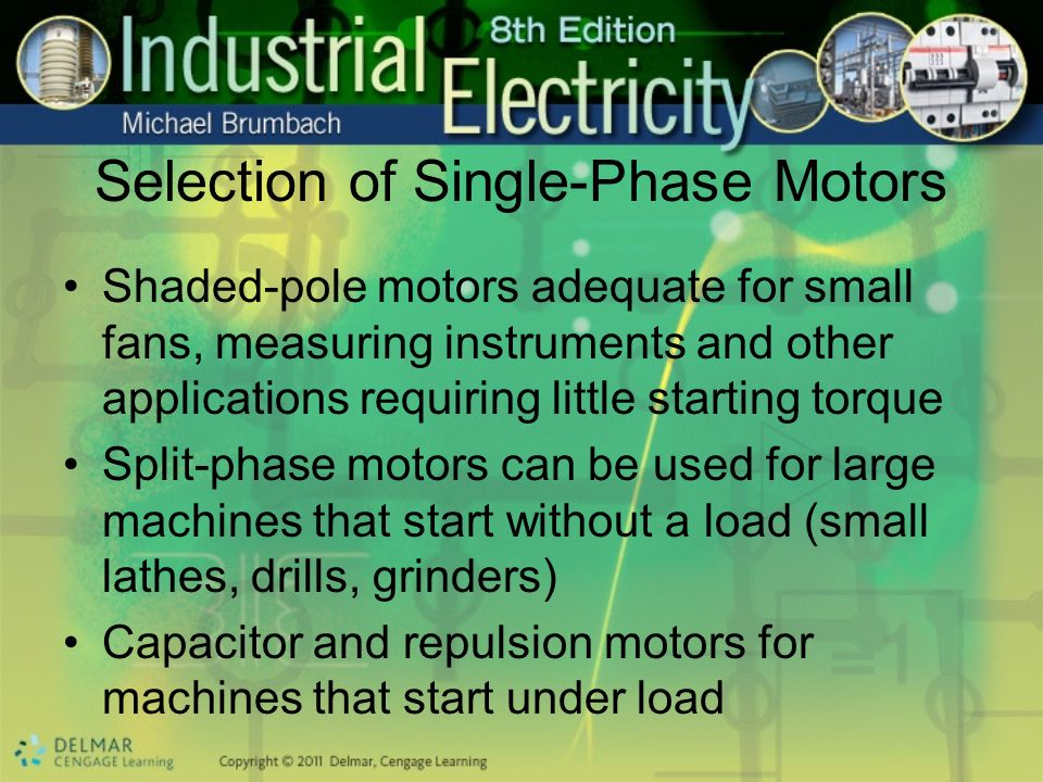 Selection of Single-Phase Motors