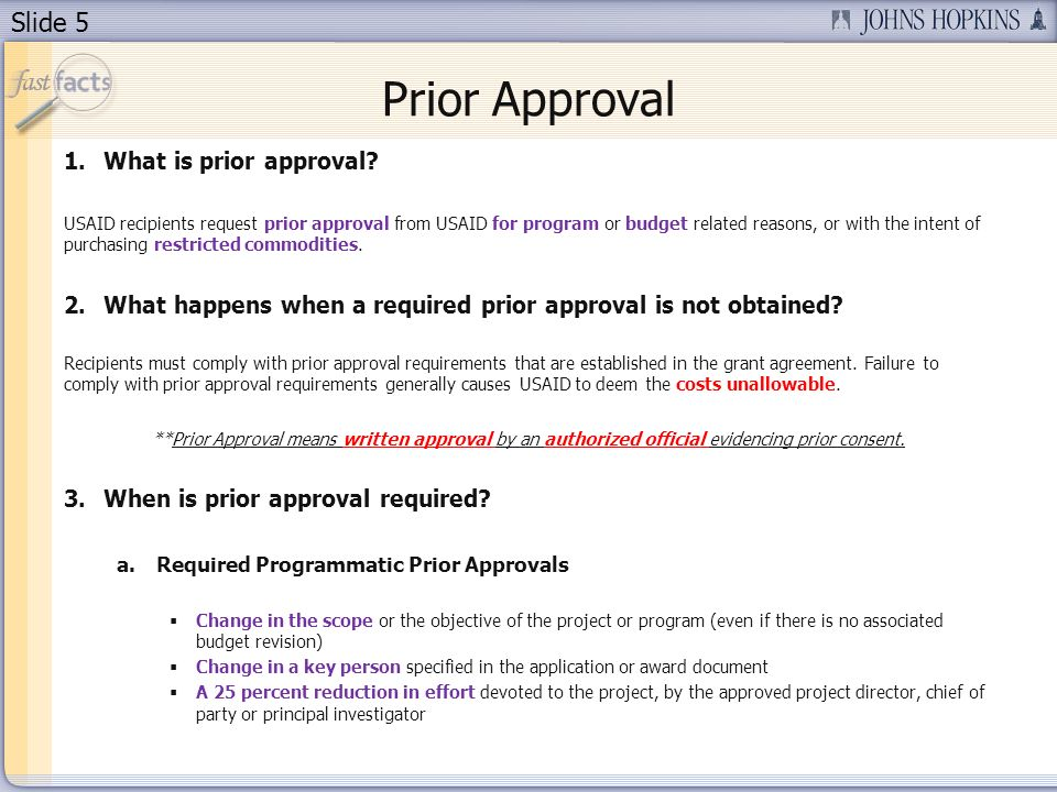 Prior Approval What is prior approval