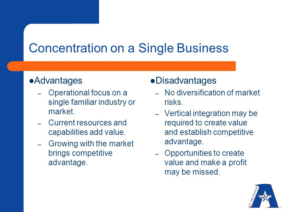 Advantages and disadvantages of diversification strategy ppt