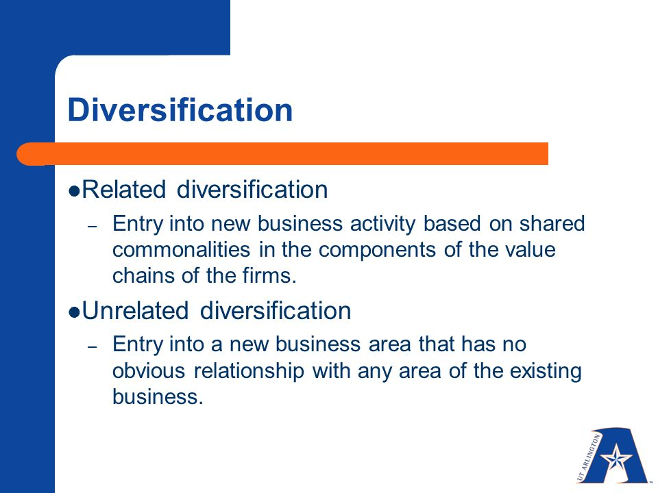 related and unrelated diversification pdf