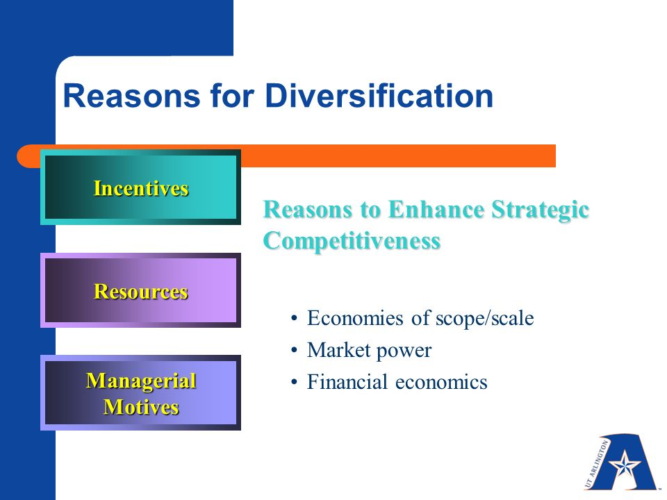 reasons for diversification The top 10 economic facts of diversity in the workplace a diverse workforce is integral to a strong economy.