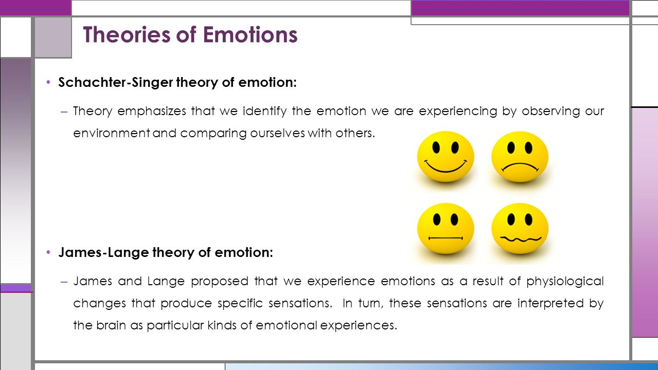 theories of emotions Feelings and emotions: the loyola symposium covers knowledge in the field of emotion the book discusses the theories of emotions based on biological considerations.