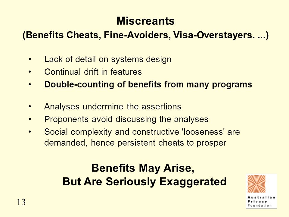 Miscreants (Benefits Cheats, Fine-Avoiders, Visa-Overstayers. ...)