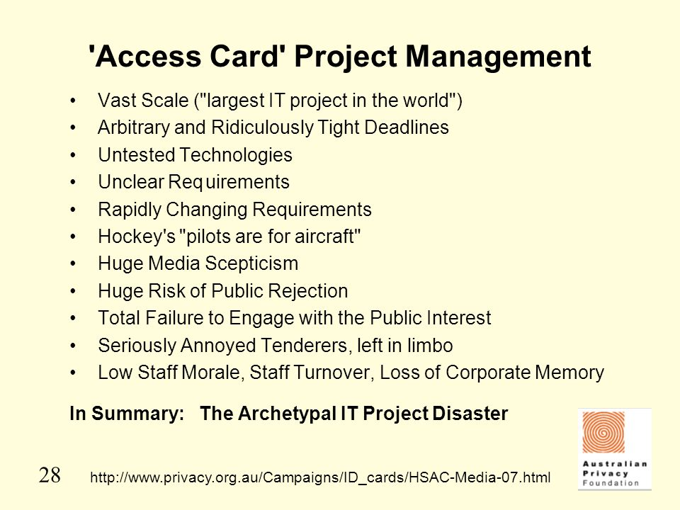 Access Card Project Management