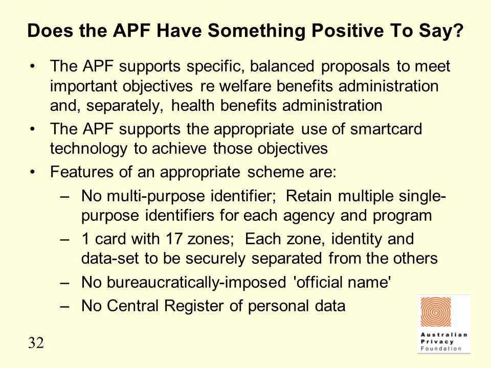 Does the APF Have Something Positive To Say