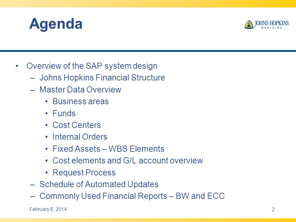Agenda Overview of the SAP system design