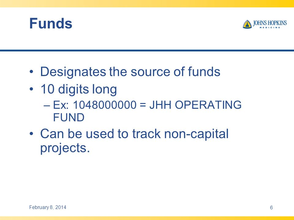Funds Designates the source of funds 10 digits long