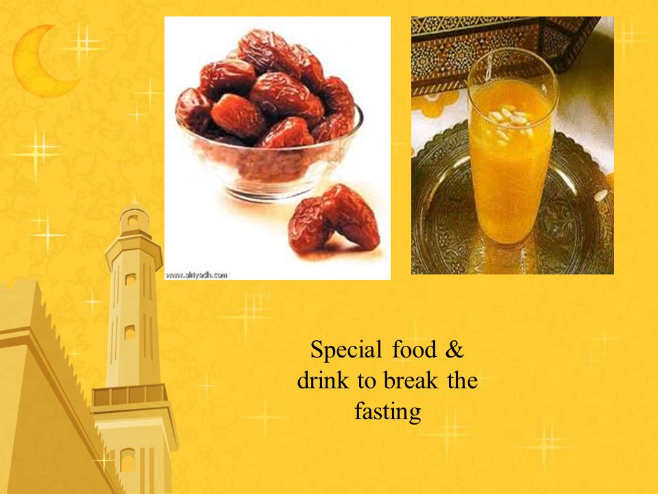 Special food & drink to break the fasting