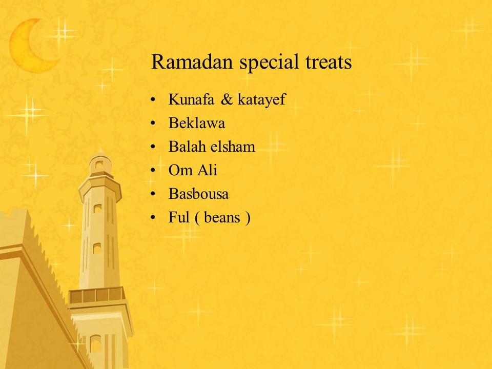 Ramadan special treats