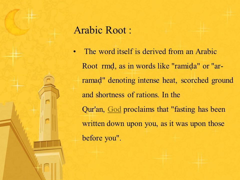 Arabic Root :
