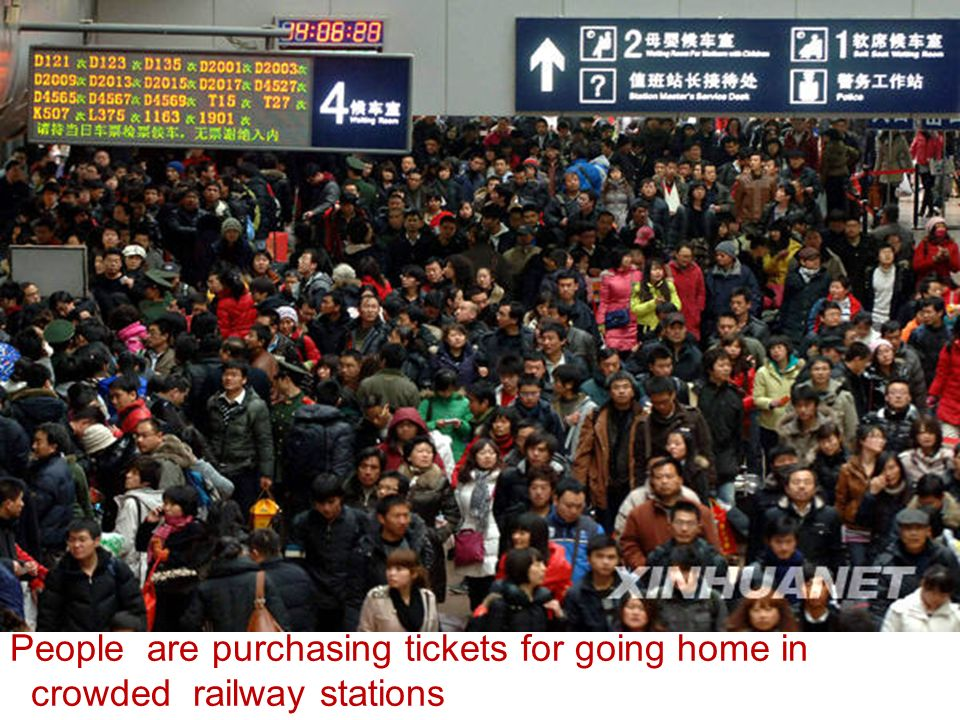 People are purchasing tickets for going home in
