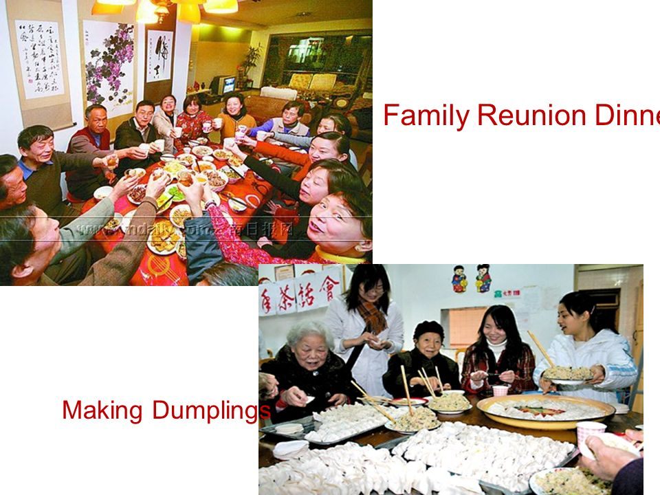 Family Reunion Dinner Making Dumplings