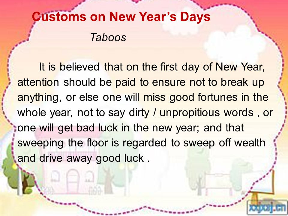 Customs on New Year's Days