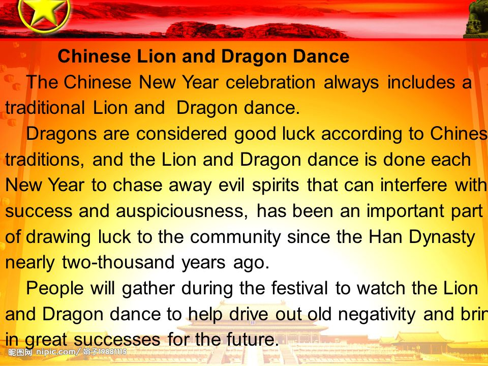 Chinese Lion and Dragon Dance