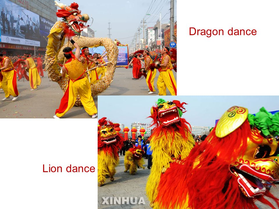 Dragon dance Lion dance