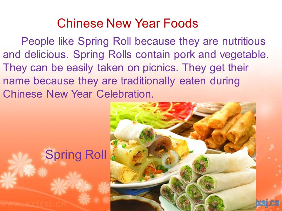 Chinese New Year Foods Spring Roll
