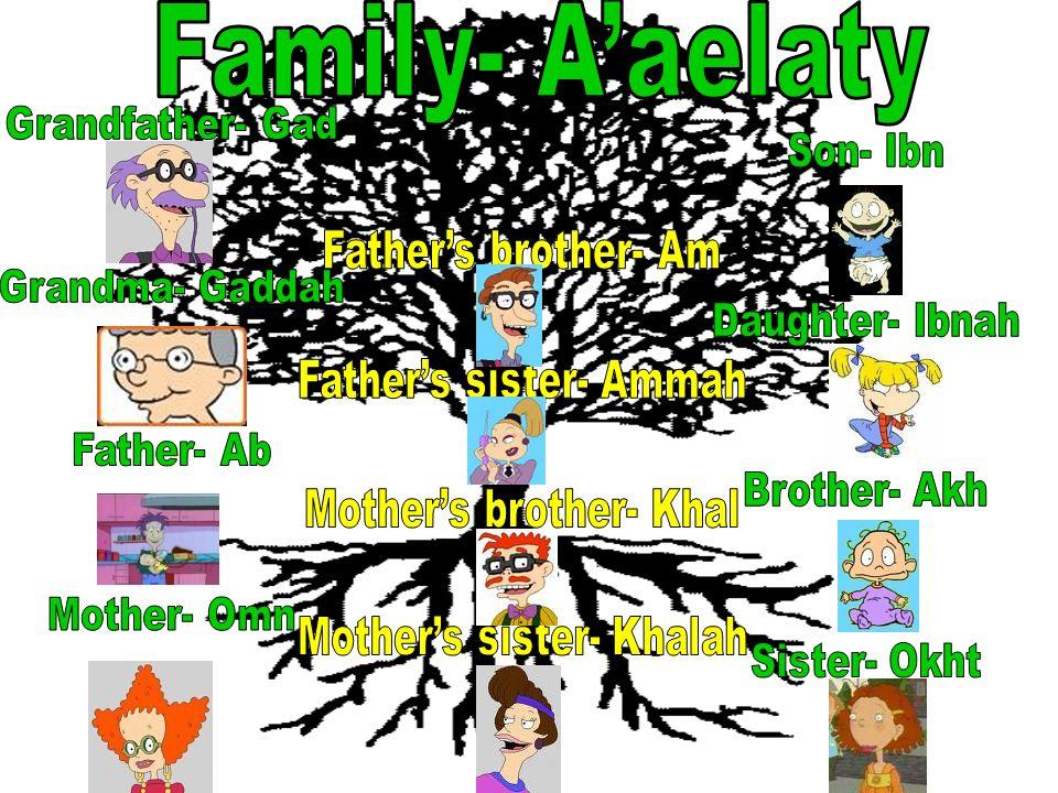 Family- A'aelaty Grandfather- Gad Son- Ibn Grandma- Gaddah