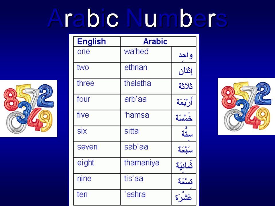 Arabic Numbers