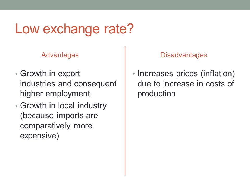 advantages disadvantages export import Advantages of exporting include increased sales, gaining global market shares, diversification, lower cost per unit and expansion within the company disadvantages include extra costs, the possibility of needing to change products, payment collection complications and difficulties in getting.