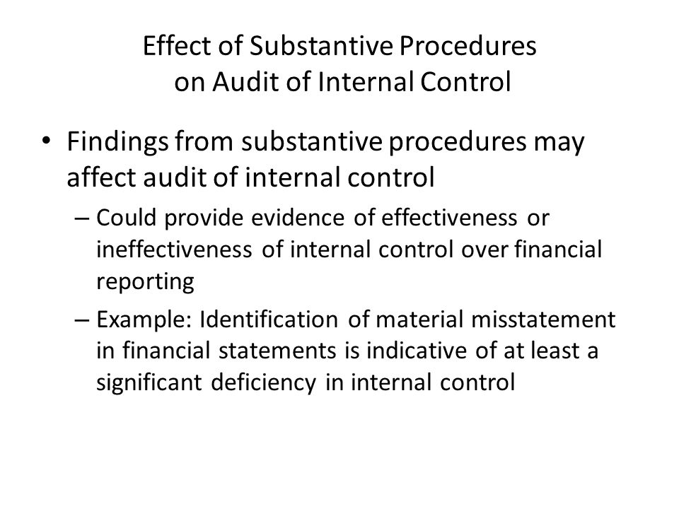 effect of internal control on financial Frequently asked questions about internal control over financial reporting nature and timing of the reporting requirement when.