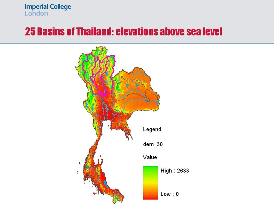 Water Availability Assessment In Data Scarce Catchments Case - London elevation above sea level