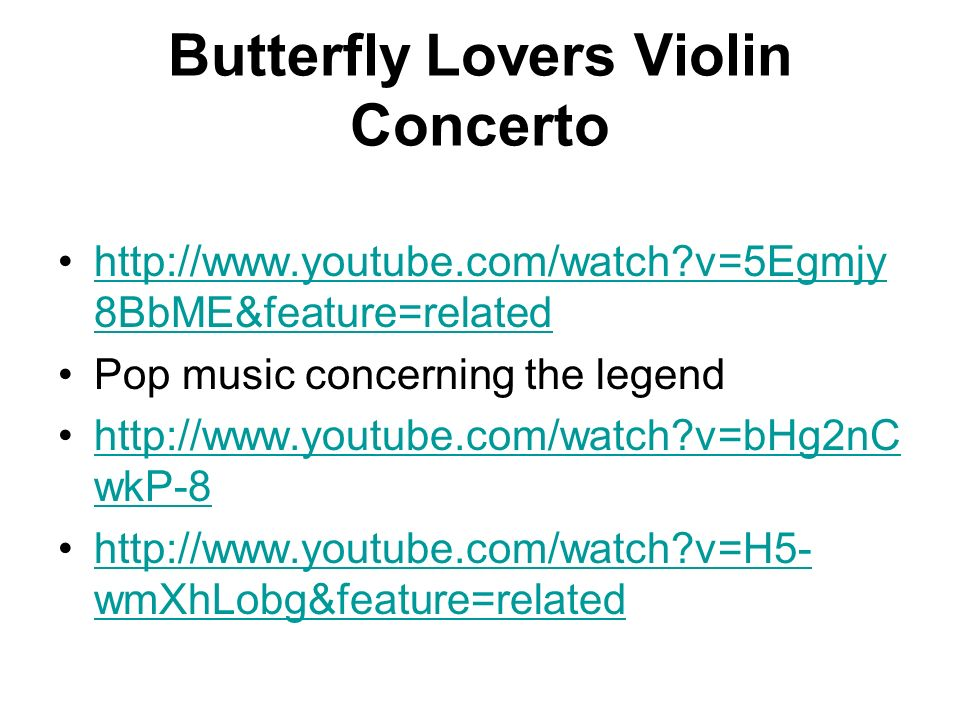 Butterfly Lovers Violin Concerto